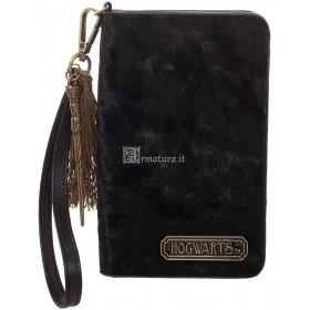 Portafoglio porta smartphone in velluto Hogwarts
